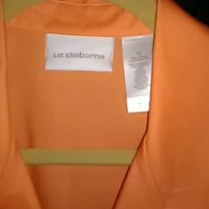 Peach/Mango colored Liz Claiborne Pleated Sleevele